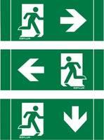 ESYLUX EN10017827 Piktogramm Vészkijárat jobbra, Vészkijárat balra, Vészkijárat lefele ESYLUX