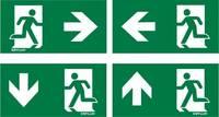ESYLUX EN10077500 Piktogramm Vészkijárat balra, Vészkijárat jobbra, Vészkijárat felfele, Vészkijárat lefele ESYLUX