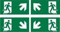 ESYLUX EN10061073 Piktogramm Vészkijárat felfele, iránymegadás balra előre, Vészkijárat felfele, iránymegadás jobbra el ESYLUX