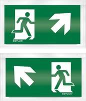 ESYLUX EN10032561 Piktogramm Vészkijárat felfele, iránymegadás balra előre, Vészkijárat felfele, iránymegadás jobbra el ESYLUX
