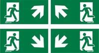ESYLUX EN10077517 Piktogramm Vészkijárat felfele, iránymegadás balra előre, Vészkijárat felfele, iránymegadás jobbra el ESYLUX