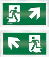 ESYLUX EN10032615 Piktogramm Vészkijárat felfele, iránymegadás balra előre, Vészkijárat felfele, iránymegadás jobbra el ESYLUX