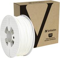 Verbatim 55058 3D nyomtatószál PETG 2.85 mm 1 kg Fehér 1 db Verbatim