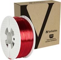 Verbatim 55062 3D nyomtatószál PETG 2.85 mm 1 kg Piros (átlátszó) 1 db Verbatim