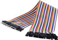 Renkforce JKMF403 Jumpe kábel Arduino, Banana Pi, Raspberry Pi [40x Áthidaló huzal dugó - 40x Áthidaló huzal alj] 30.00 Renkforce