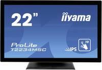 "Iiyama ProLite T2234MSC LED monitor (felújított) 54.6 cm (21.5 "") EEK: B (A+++ - D) 1920 x 1080 pixel 16:9 8 ms VGA, HDM (T2234MSC-B6X) Iiyama"