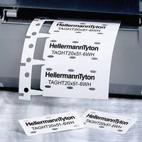Betűhordó 556-80000 TAGHT10X51-4WH-PVDFX-WH (2000) HellermannTyton (556-80000) HellermannTyton