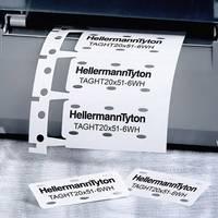 Betűhordó 556-80002 TAGHT20X51-6WH-PVDFX-WH (1000) HellermannTyton (556-80002) HellermannTyton