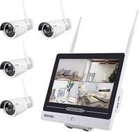 WLAN IP-Megfigyelő kamera készlet 4 csatornás 4 db kamerával 1280 x 960 pixel Inkovideo INKO-AL3003-4 Inkovideo