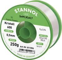 Stannol Kristall 600 Fairtin Forrasztóón, ólommentes Ólommentes Sn99.3Cu0.7 250 g 0.5 mm Stannol