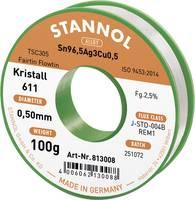 Stannol Kristall 611 Fairtin Forrasztóón, ólommentes Ólommentes Sn3.0Ag0.5Cu 100 g 0.5 mm Stannol