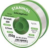 Stannol Kristall 600 Fairtin Forrasztóón, ólommentes Ólommentes Sn3.0Ag0.5Cu 250 g 0.7 mm Stannol