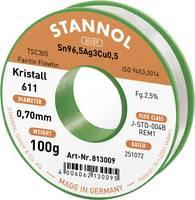 Stannol Kristall 611 Fairtin Forrasztóón, ólommentes Ólommentes Sn3.0Ag0.5Cu 100 g 0.7 mm Stannol