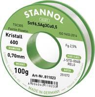Stannol Kristall 600 Fairtin Forrasztóón, ólommentes Ólommentes Sn3.0Ag0.5Cu 100 g 0.7 mm Stannol