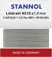 Stannol HS10 Forrasztóón, ólommentes Ólommentes Sn0.7Cu 6 g 1 mm Stannol