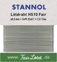 Stannol HS10Fair Forrasztóón, ólommentes Ólommentes Sn0.7Cu 10 g 0.5 mm Stannol