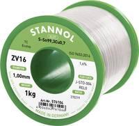 Stannol ZV16 Forrasztóón, ólommentes Ólommentes Sn0.7Cu 1000 g 1 mm Stannol