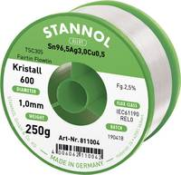 Stannol Kristall 600 Fairtin Forrasztóón, ólommentes Ólommentes Sn3.0Ag0.5Cu 250 g 1 mm Stannol
