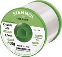 Stannol Kristall 600 Fairtin Forrasztóón, ólommentes Ólommentes Sn0.7Cu 500 g 1 mm Stannol