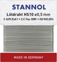 Stannol HS10 Forrasztóón, ólommentes Ólommentes Sn0.7Cu 10 g 0.5 mm Stannol