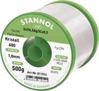 Stannol Kristall 600 Fairtin Forrasztóón, ólommentes Ólommentes Sn3.0Ag0.5Cu 500 g 1 mm Stannol