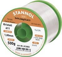 Stannol Kristall 611 Fairtin Forrasztóón, ólommentes Ólommentes Sn3.0Ag0.5Cu 500 g 1 mm Stannol