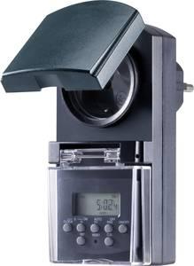 Basetech BT-2106308 Dugalj időkapcsoló óra Digitális Heti program 1800 W IP44 Visszaszámláló funkció, Véletlen kapcsol (BT-2106308) Basetech