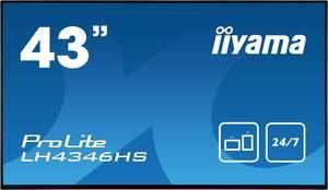 Iiyama ProLite LH4346HS Digital Signage kijelző EEK: A (A+++ - D) 108 cm 42.5 coll 1920 x 1080 pixel 24/7 Iiyama