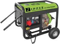 Zipper ZI-STE6700DH Dízelmotor Áramfejlesztő 6.5 kW 230 V, 400 V 115 kg Zipper