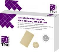 TRU COMPONENTS Euro panel Keménypapír (H x Sz) 160 mm x 100 mm 35 µm Raszterméret 5.08 mm Tartalom 4 db TRU COMPONENTS