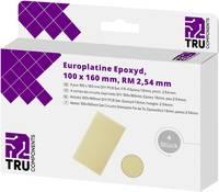 TRU COMPONENTS Euro panel Epoxi (H x Sz) 160 mm x 100 mm 35 µm Raszterméret 2.54 mm Tartalom 4 db TRU COMPONENTS