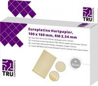 TRU COMPONENTS Euro panel Keménypapír (H x Sz) 160 mm x 100 mm 35 µm Raszterméret 2.54 mm Tartalom 4 db TRU COMPONENTS