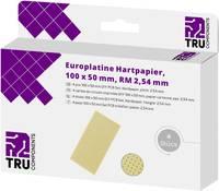 TRU COMPONENTS Euro panel Cu bevonat nélkül Keménypapír (H x Sz) 100 mm x 50 mm 35 µm Raszterméret 2.54 mm Tartalom 4 d TRU COMPONENTS