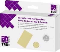 TRU COMPONENTS Euro panel Cu bevonat nélkül Keménypapír (H x Sz) 160 mm x 100 mm 35 µm Raszterméret 2.54 mm Tartalom 4 TRU COMPONENTS