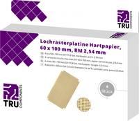TRU COMPONENTS Euro panel Keménypapír (H x Sz) 100 mm x 50 mm 35 µm Raszterméret 2.54 mm Tartalom 4 db TRU COMPONENTS