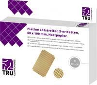 TRU COMPONENTS Euro panel Keménypapír (H x Sz) 100 mm x 60 mm 35 µm Raszterméret 5.08 mm Tartalom 4 db TRU COMPONENTS