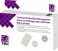 TRU COMPONENTS Euro panel Cu bevonat nélkül Keménypapír (H x Sz) 100 mm x 60 mm 35 µm Raszterméret 2.54 mm Tartalom 4 d TRU COMPONENTS