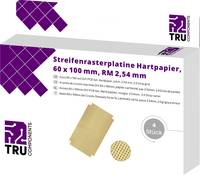 TRU COMPONENTS Euro panel Keménypapír (H x Sz) 100 mm x 60 mm 35 µm Raszterméret 2.54 mm Tartalom 4 db TRU COMPONENTS