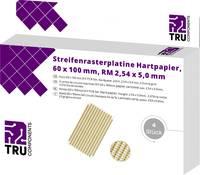 TRU COMPONENTS Euro panel Keménypapír (H x Sz) 100 mm x 60 mm 35 µm Raszterméret 5 mm Tartalom 4 db TRU COMPONENTS