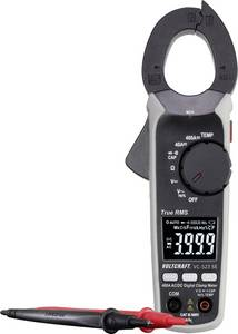 Digitális lakatfogó multiméter 400 A/AC/DC CAT III 600 V 4000 digit Voltcraft VC-523 SE VOLTCRAFT