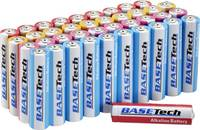Basetech LR03 Mikroelem Alkáli mangán 1300 mAh 1.5 V 40 db Basetech