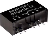 Mean Well DPU01M-12 DC/DC feszültségváltó modul 42 mA 1 W Kimenetek száma: 2 x Mean Well