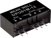 Mean Well DPU01N-12 DC/DC feszültségváltó modul 42 mA 1 W Kimenetek száma: 2 x Mean Well
