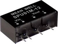 Mean Well SPU01N-12 DC/DC feszültségváltó modul 84 mA 1 W Kimenetek száma: 1 x Mean Well