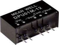 Mean Well DPU01N-15 DC/DC feszültségváltó modul 33 mA 1 W Kimenetek száma: 2 x Mean Well