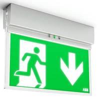 ABB 7TCA091160R0284 LED-es menekülési útvonal vészvilágítás Mennyezetre szerelhető, Fali rögzítés ABB