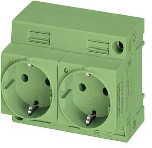 Kapcsolószekrény csatlakozó Phoenix Contact EO-CF/UT/LED/DUO/GN Zöld 1 db Phoenix Contact