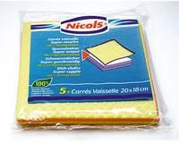 Szivacs rongy 26167 18x22cm válogatott színek 5 darab / csomag. 26167