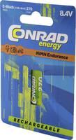 9 V-os akku NiMH Conrad energy Endurance 6LR61 270 mAh 8.4 V 1 db Conrad energy