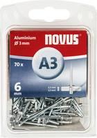 Popszegecs (Ø x H) 3 mm x 6 mm Alumínium Alumínium Novus 016039 70 db Novus